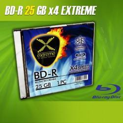 BluRay BD-R EXTREME 25GB x4 - Slim case 1 szt.