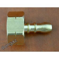 Redukcja dwuczęściowa z dużej butli GW Lewy 21,8 na wąż gazowy ⌀ 9 mm Części zamienne