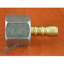 """Redukcja kuchenki gazowej 1/2"""" na wąż butli gazowej ⌀ 9 mm Kuchenki"""