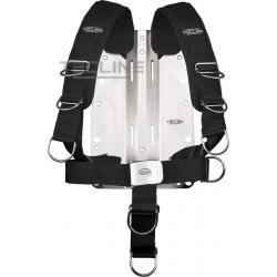 TECLINE Uprząż Comfort (regulowana) - z płytą nierdzewną 3mm