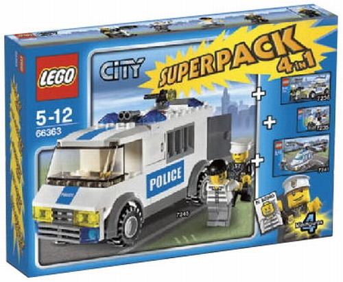 Lego City 66363 Super Pack Policja Na Bazarekpl