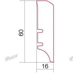 Barlinek - listwa przyścienna P50 dąb (2200 x 60 x 16 mm)