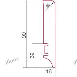 Barlinek - listwa przyścienna P61 dąb (2200 x 90 x 16 mm)