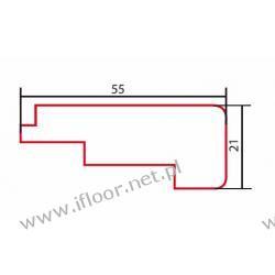 Barlinek - listwa schodowa niska lakierowana dł. 2000 mm buk