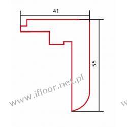 Barlinek - listwa schodowa wysoka surowa dł. 2000 mm dąb czerwony