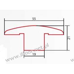 Barlinek - listwa dylatacyjna surowa dł. 1000 mm dąb czerwony