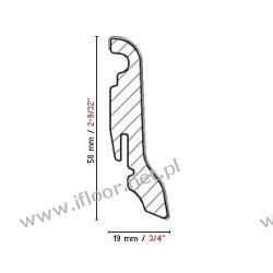 FN Profile - fornirowana listwa przyścienna NF58 buk naturalny (półmat / 2500 x 58 x 19 mm)