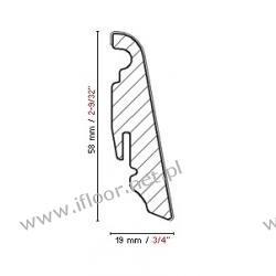 FN Profile - fornirowana listwa przyścienna cokołowa NF58 buk naturalny (półmat / 2500 x 58 x 19 mm)