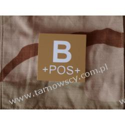 Blood Type Velcro Patch - B POS DESERT Repliki i rekonstrukcje historyczne