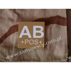 Blood Type Velcro Patch - AB POS DESERT Repliki i rekonstrukcje historyczne