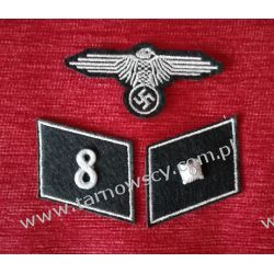 KOMPLET WAFFEN SD - Unterscharfuhrer 8 cyfra pułkowa Militaria