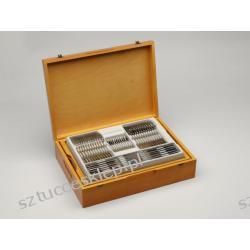 Sztućce Slender - komplet sztućców 100 szt. dla 12 osób, wysoki połysk