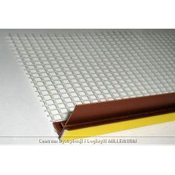 Listwa dylatacyjna PCV do ościeżnic okiennych z siatką MAHOŃ