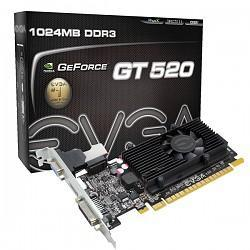 GeForce with CUDA GT520 EVGA 1GB HDMI & DVI (PCI-E) (DDR3)(LP)