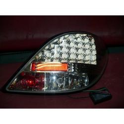 LAMPY PEUGEOT 207 LED CHROM 06> KOMPLET