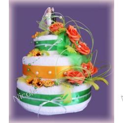 Tort z 6 ręczników: Zielony