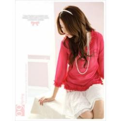 Bluzka Japan Style czerwona CF77-6607B