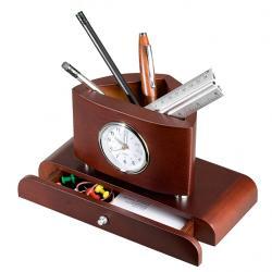 Zegar na biurko, kolor brąz 47484 01 min.zamówienie 20 szt.