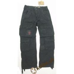 Spodnie Cargo defense Pure Trash czarne