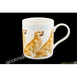 KUBEK PSY GOLDEN RETRIEVER PIES PORCELANA Z PSEM