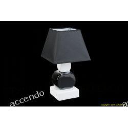 LAMPA NOCNA LAMPKA NA STÓŁ BIAŁO CZARNA CERAMIKA