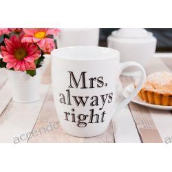 KUBEK NA PREZENT PORCELANOWY MRS ALWAYS RIGHT