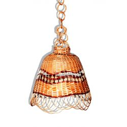 Abażur wiklinowy Żyrandol z wikliny Lampa wiklinow