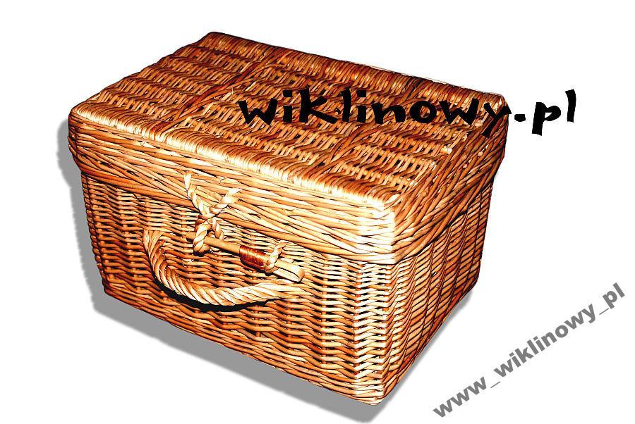 2fd1e7f6ca6 Kuferek, kosz piknikowy walizka wiklinowa, Neseser na Bazarek.pl