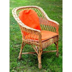 Fotel wiklinowy pełnopleciony+ poducha Wodoodporny