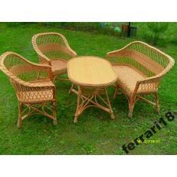 Fotele i stół + sofa meble ogrodowe Warto Polecam
