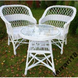 Fotele i stół meble ogrodowe odporne na deszcz