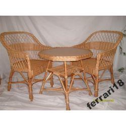 Fotele i stół meble ogrodowe  Wiklina .Producent
