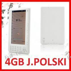 CZYTNIK E-BOOK EBOOK 7 cali 4GB MP3 POLSKIE MENU
