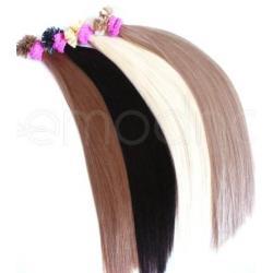 Pasemka na keratynę włosy naturalne REMY 55-57cm