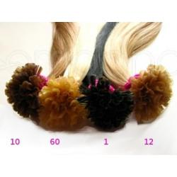 Pasemka na keratynę włosy naturalne REMY 45-47cm