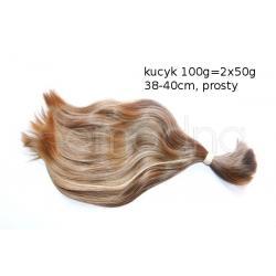 WŁOSY SŁOWIAŃSKIE POLSKIE KUCYK 50g 38/40cm+GRATIS