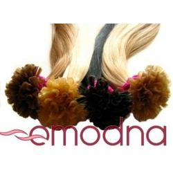 Pasemka na keratynę włosy naturalne REMY 35-37cm