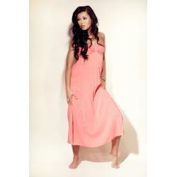 Sukienka Plażowa - kolor Koralowy