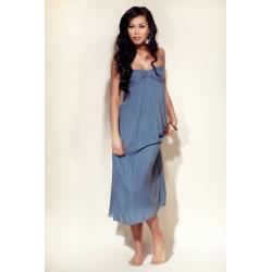Sukienka Plażowa - kolor Jeansowy