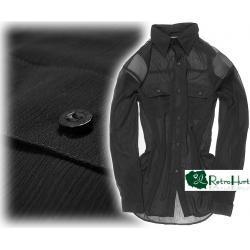 MARKOWA zwiewna Damska koszula z kołnierzykiem - L/XL