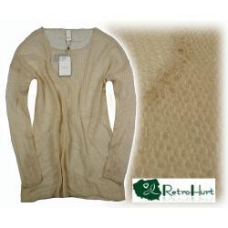 VILA jasny ażurowy sweter - rozmiar L