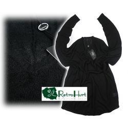 B.YOUNG czarny szeroki sweter, bluzka M