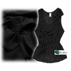 VILA czarna bluzka z kokardą - rozmiar M