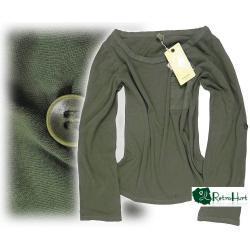 B.YOUNG zielona bluzka z kieszonką - rozmiar S