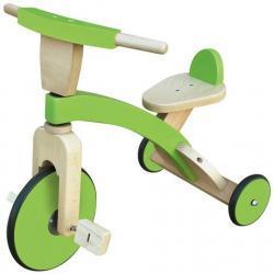 Nino&Ideas - Dziecięcy rowerek trójkołowy - drewniany