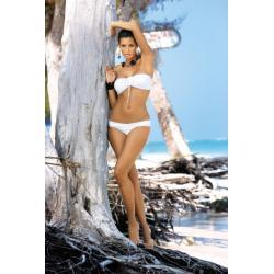 MARKO Strój Plażowy - Kostium Kąpielowy dwuczęściowy Shakira gładka M-109 biały