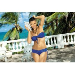 MARKO Strój Plażowy - Kostium Kąpielowy dwuczęściowy Shakira PT M-131 Chabrowy