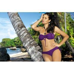 MARKO Strój Plażowy - Kostium Kąpielowy dwuczęściowy Shakira PT M-131 Fioletowy