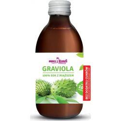 Sok z miąższem z owoców Gravioli bez cukru Owoce i warzywa
