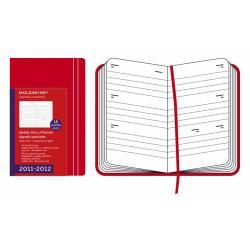 MOLESKINE DIARY POCKET RED kalendarz 2011-2012 18 miesięcy kieszkonkowy czerwony 9x14